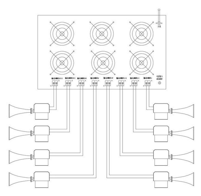 mtc-2400大功率扩音警报器